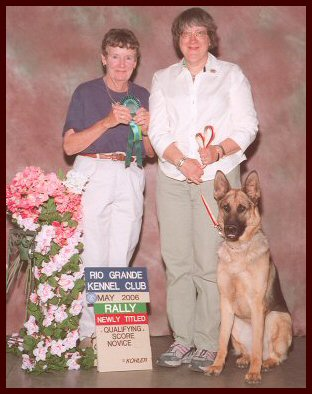 Vom Waldenhaus German Shepherd female in obedience training, living in New Mexico